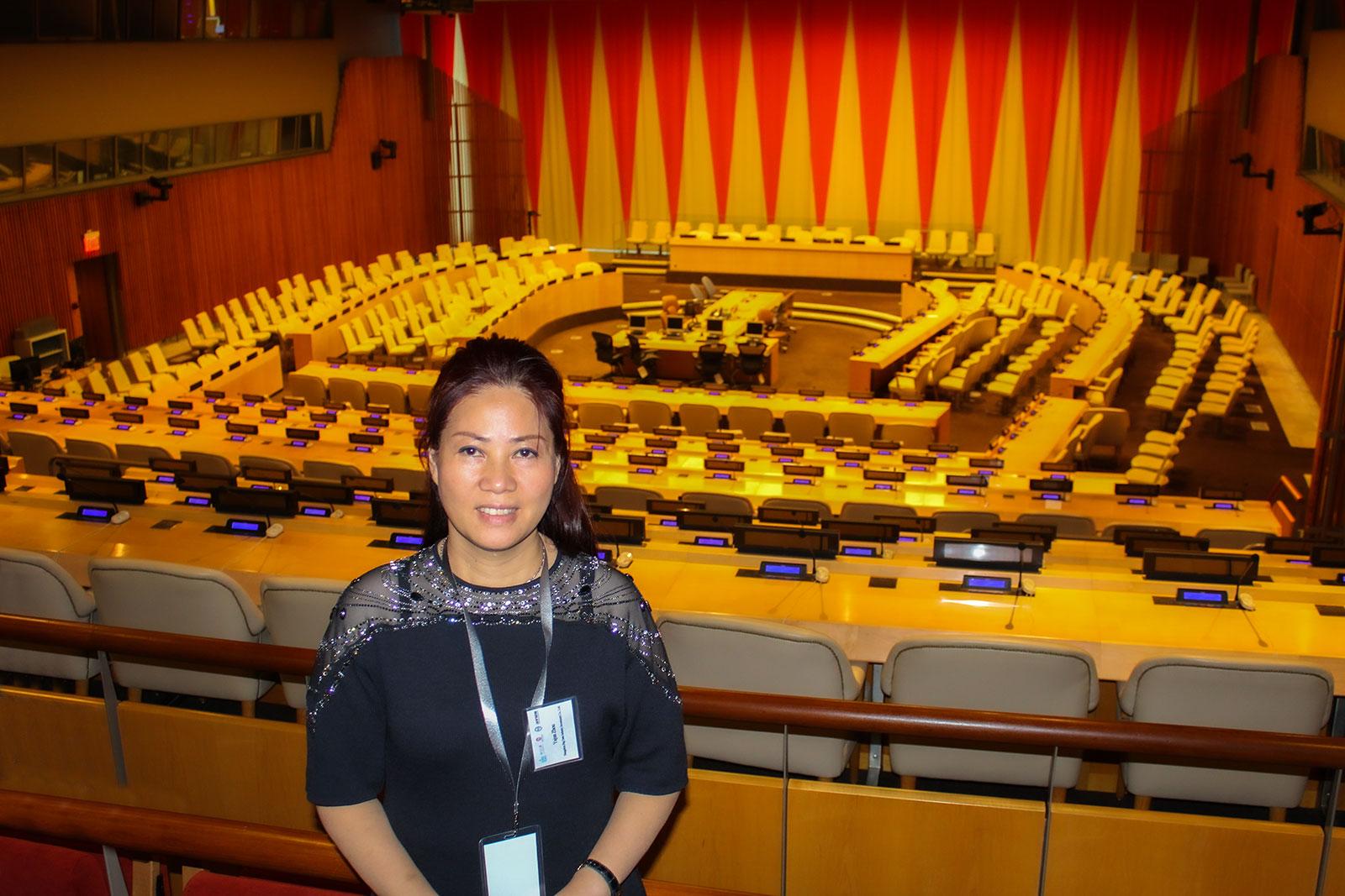 联合国会议现场